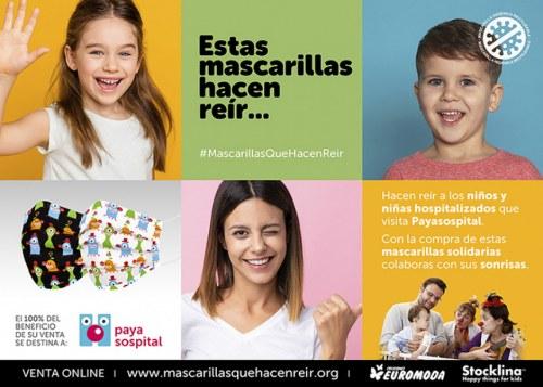 foto Mascarillas que hacen reír a los niños y niñas hospitalizados Mascarillas